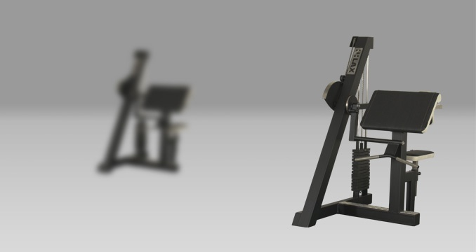 Posilovací stroj klasik biceps i triceps