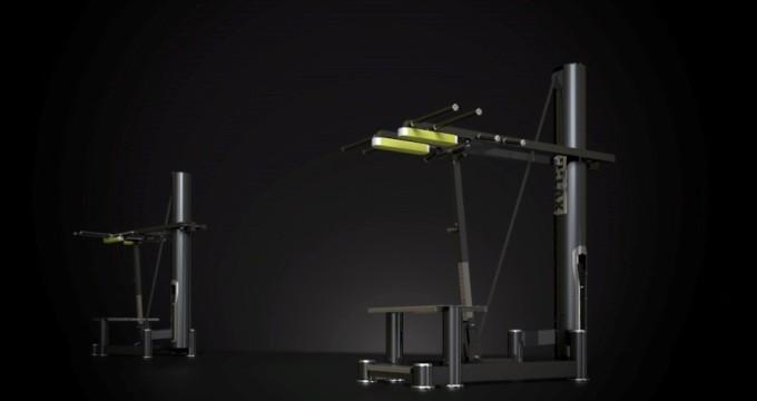 Posilovací stroj na lýtka dřep ramena