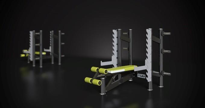 Posilovací tlaková lavice polohovací