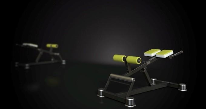Posilovací lavice hyperextenze polohovací