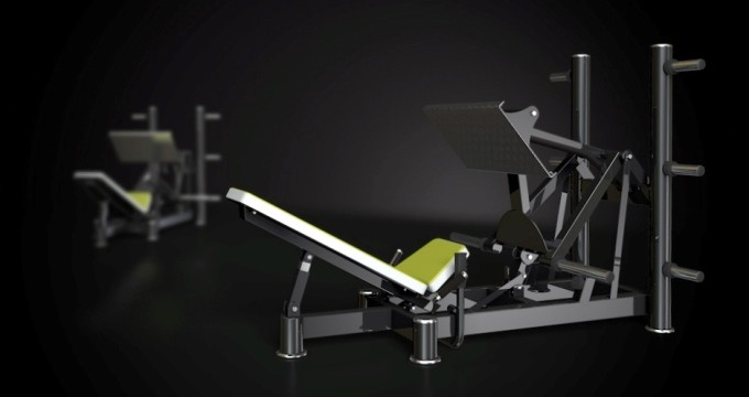 Posilovací stroj squat press