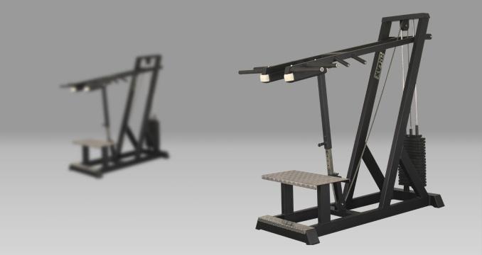 Posilovací stroj lýtka i dřepy i ramena klasik