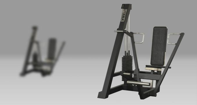 Posilovací stroj prsa tlak v sedě s dopomocí klasik