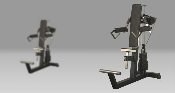 Posilovací stroj upažování v sedě klasik