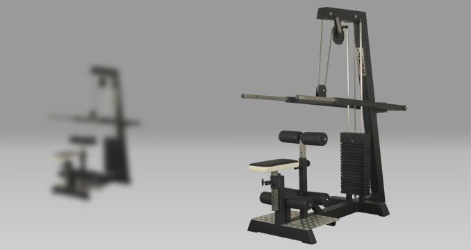 Posilovací stroj triceps v sedě i stoje klasik