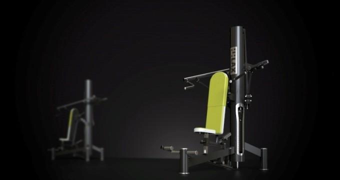 Posilovací stroj ramena tlak s dopomocí