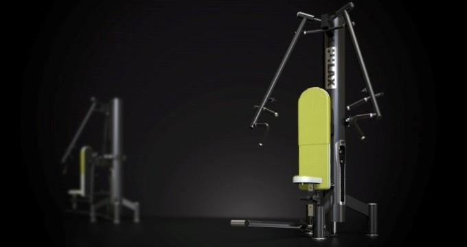 Posilovací stroj reha new prsa tlak