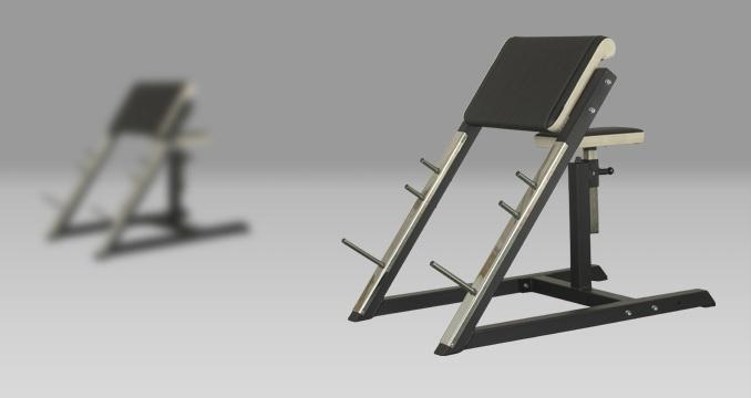 Posilovací lavice biceps v sedě izolovaný klasik
