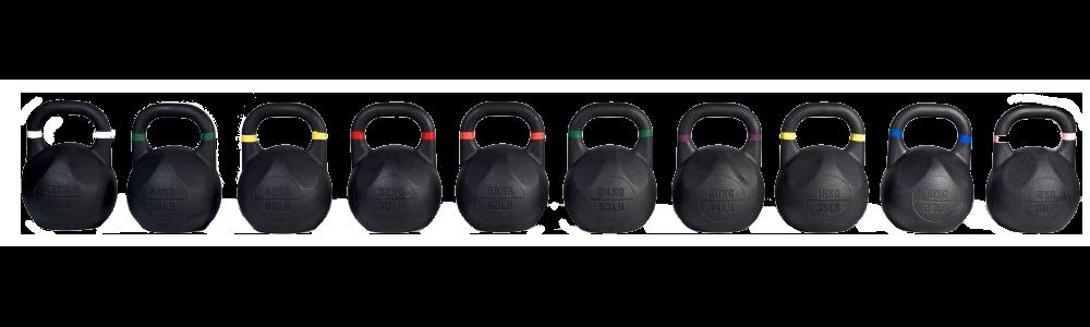 Závodní Kettlebell 8 kg – 36 kg